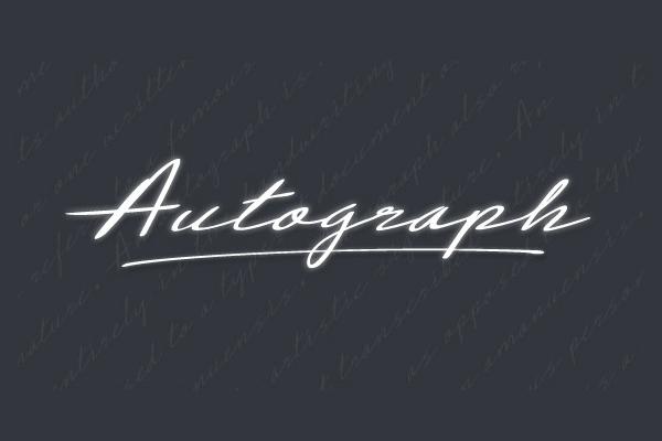 Autograph Handwritten Cursive Fonts