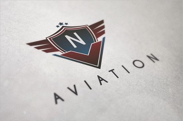 Aviation Badge Logo Template