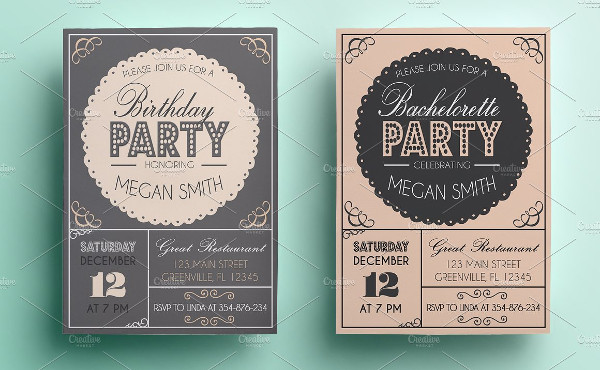 Bachelorette or Birthday Party Invitations