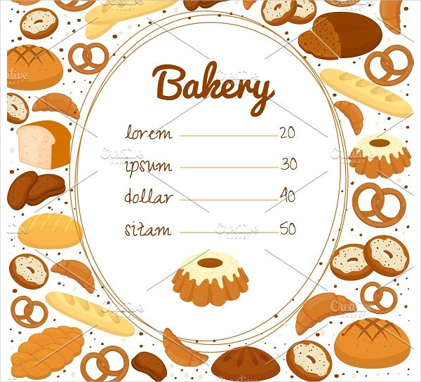 Bakery Menu or Price Poster Template