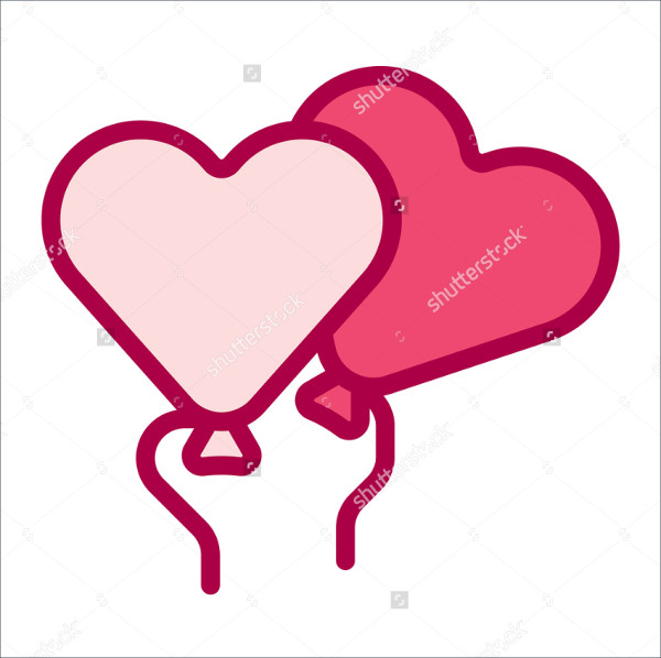 Simple Love Balloon Icon