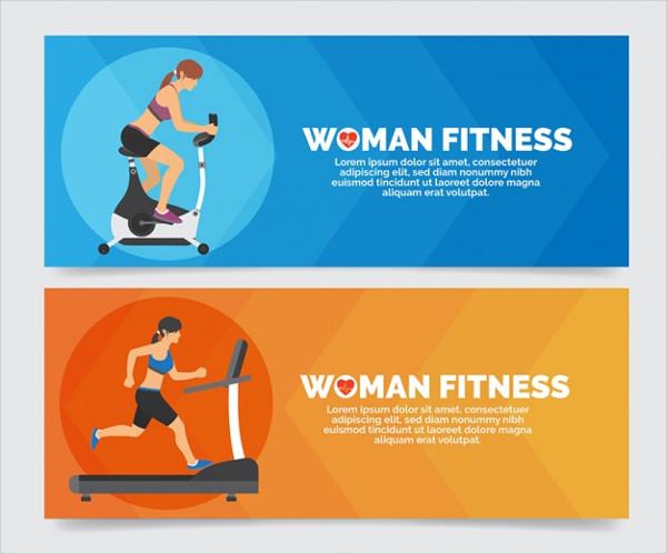 Free Women Fitness Banner Template