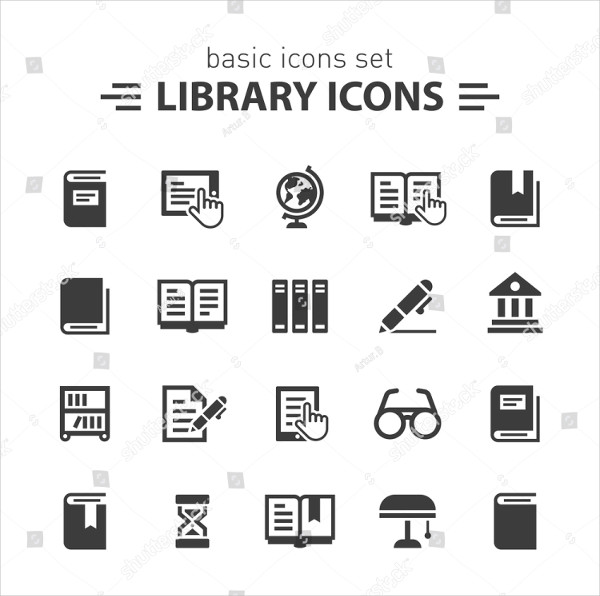 Basic Icons Set for Library
