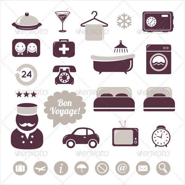 Editable Hotel Icons Set