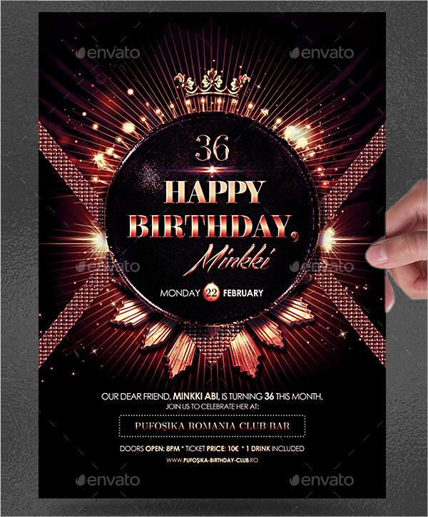 Classic Birthday Flyer or Poster Template
