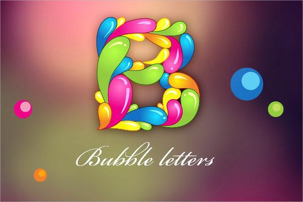 beautiful alphabet bubble letter designs