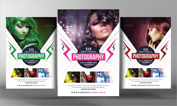 Beauty Salon Photography Flyers