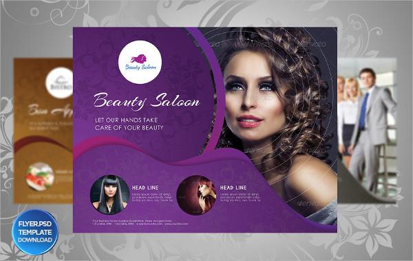 Beauty Saloon Business PSD Flyer Template