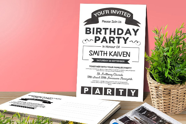 Best Birthday Party Invitation Card