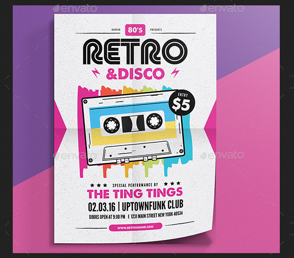 Best Disco Club Flyer PSD