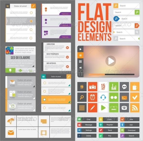 Best Flat Web Design Buttons