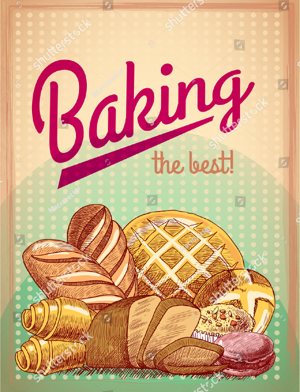 Best Pastry Food Poster Template