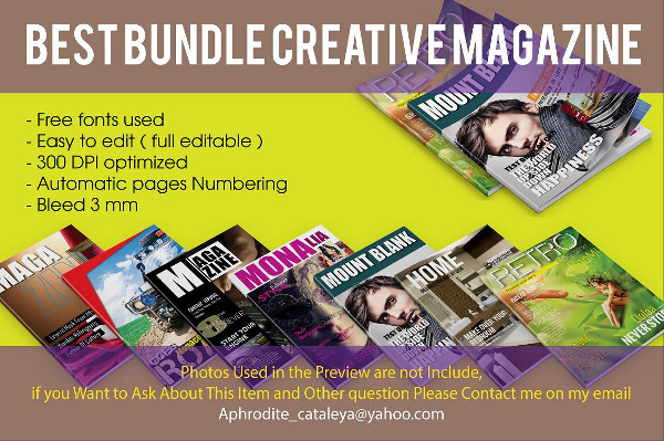 Best Sports Magazine Template Bundle