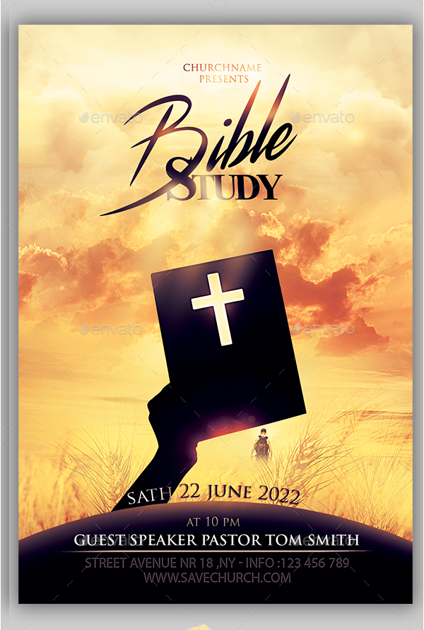 Bible Study Flyer Template