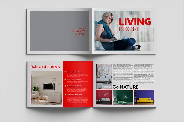 Bifold Horizontal Brochure Mockups