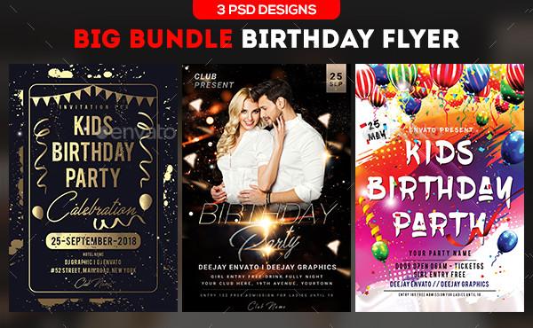 33 Birthday Flyer Templates Free Premium Download