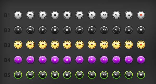 Big Multimedia Button Set