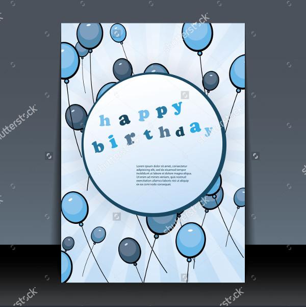 Birthday Card Flyer Design