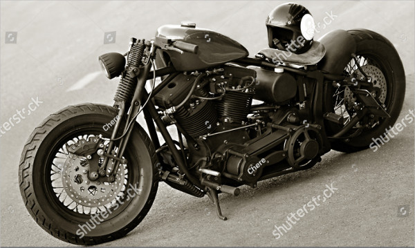 Black and White Motorcycle Photography