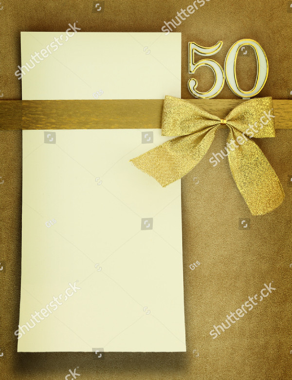 Blank Anniversary Card Template