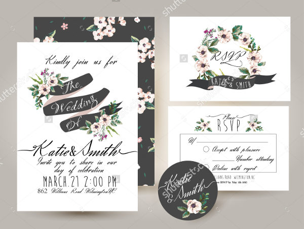 Blossom Wedding Card Template