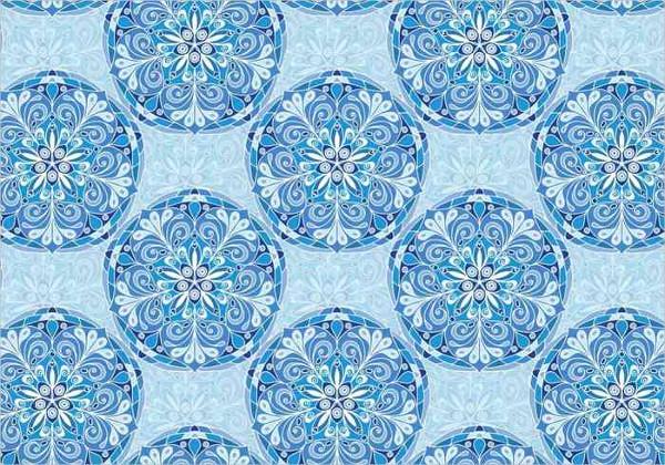 Free Blue Vector Colorful Mandala Pattern