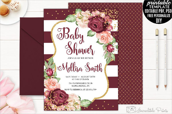 Bohemian Baby Shower Invitation Card