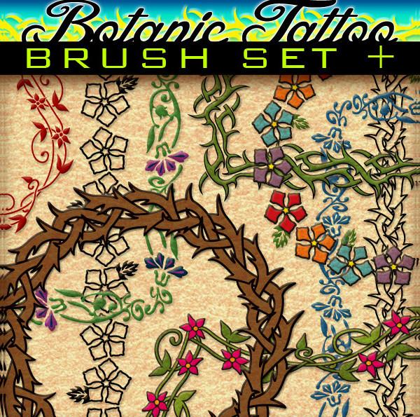 Botanic Tattoo Brush Set
