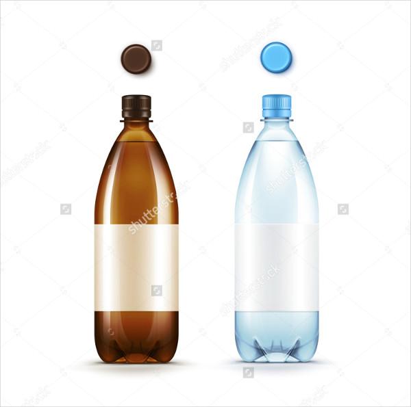 Blank Water Bottle Label Template