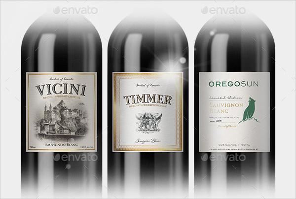 Branding Wine Label Template & Cider Bottle