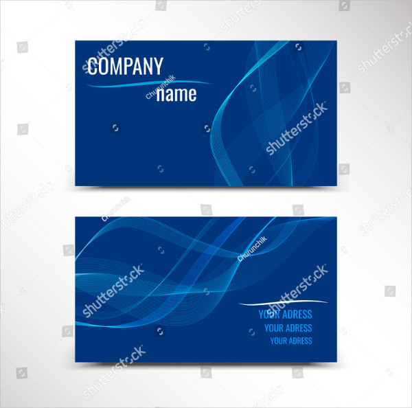 Bright Visiting Cards Set Vector Illustration