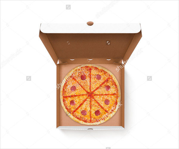 Tasty Pizza Design Mock-Up Top View