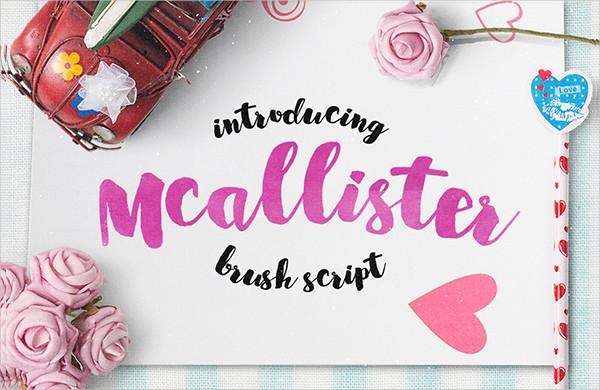 Cursive Brush Font