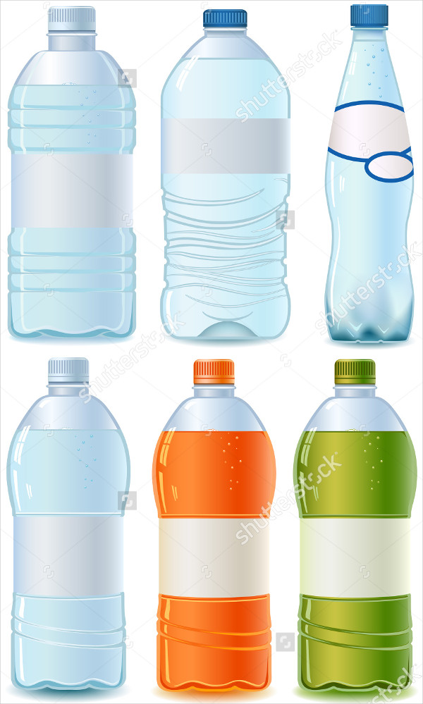 Vector Illustration Water Label Template
