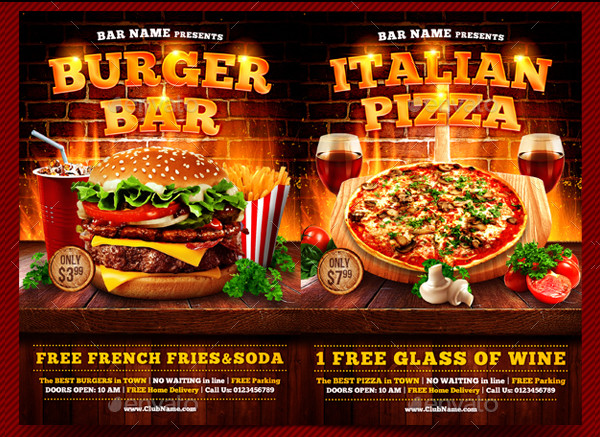 31 famous pizza flyer templates free premium download