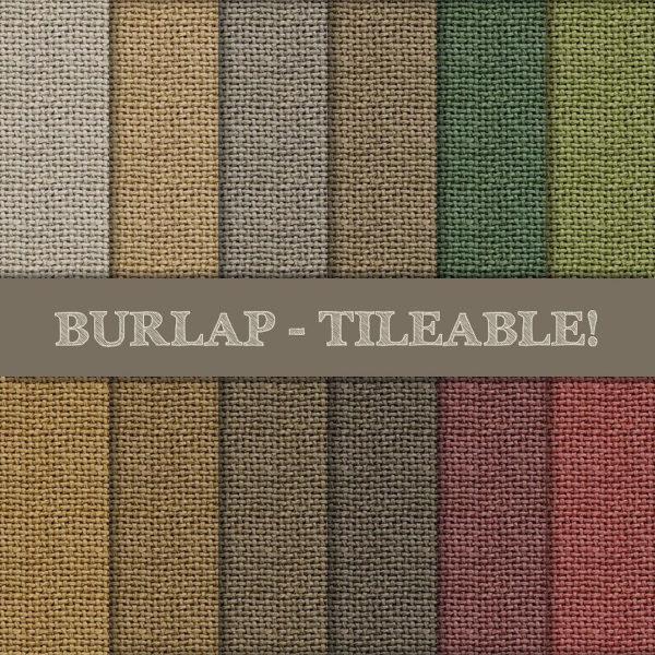 Burlap Tileable Seamless Patterns