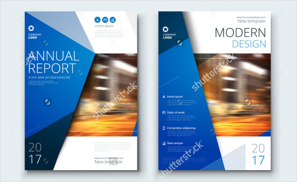 Blue Corporate Annual Report Cover