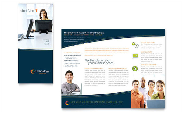 Business Trifold Brochure Template Free