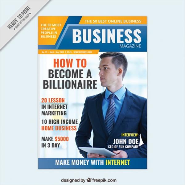 Free Business Magazine Cover Design