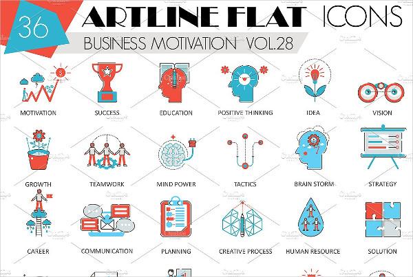 Business Motivation Discipline Icons