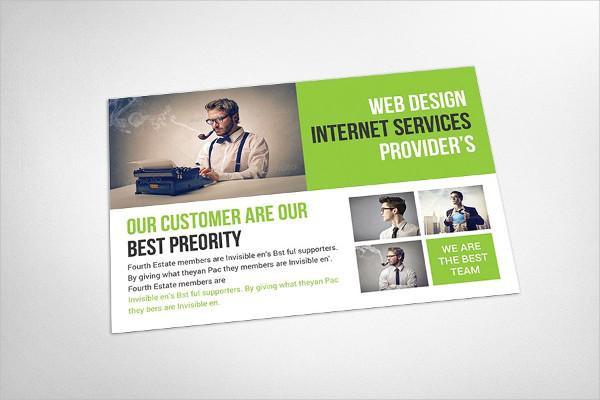 Business Solution Postcard Template