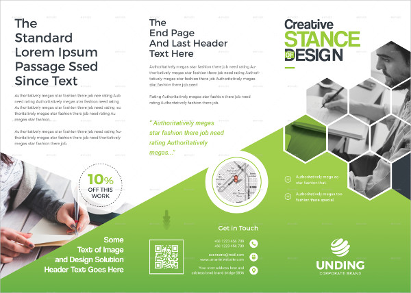 Creative Design Trifold Brochure Template