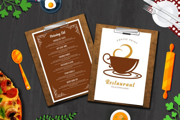 Cafe Tea Menu Templates