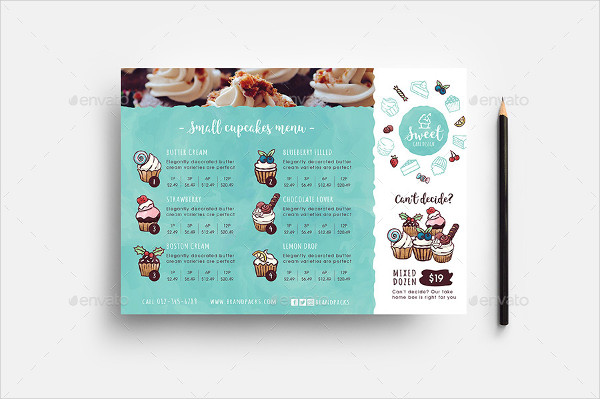Cake Shop Menu Templates for Photoshop & Illustrator
