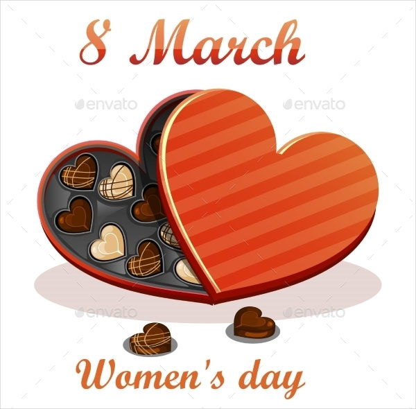 Attractive Womens Day Greeting Card Template