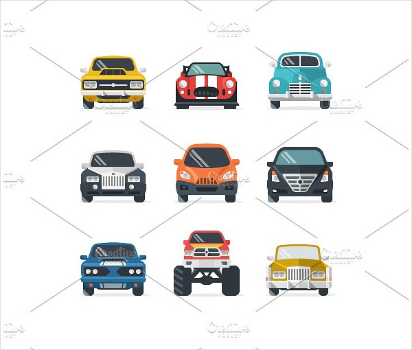 Car Icon Set for Web & Mobile Application