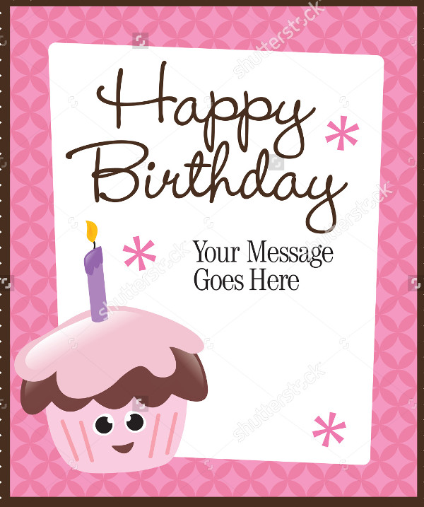 Cartoon Birthday Flyer or Poster Template