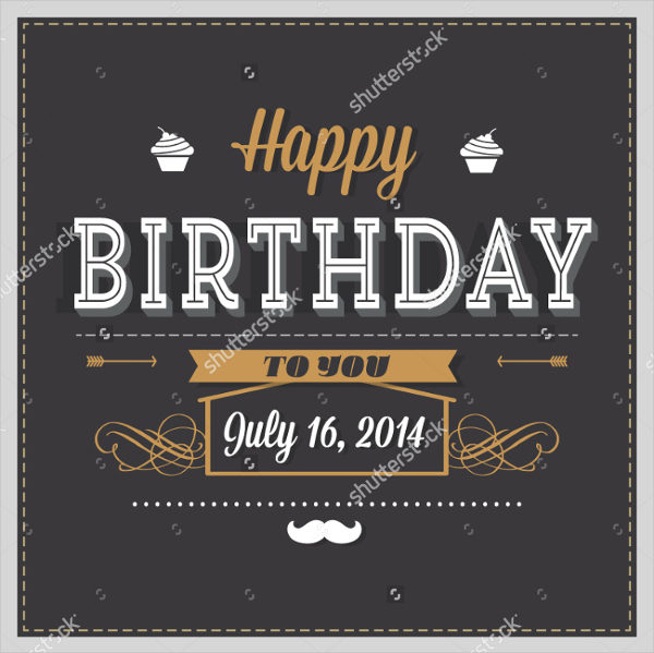 Cartoon Birthday Invitation Card Template