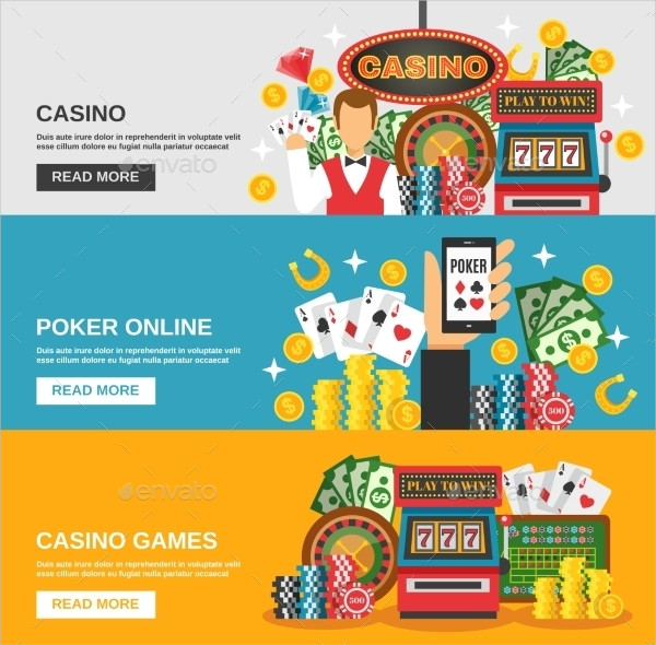 Casino Advertising Banners Set