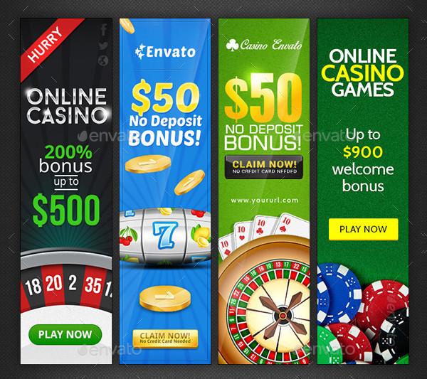 Casino Banner Design Bundle